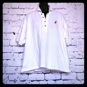Walt Disney World Polo Shirt Embroidered White XL